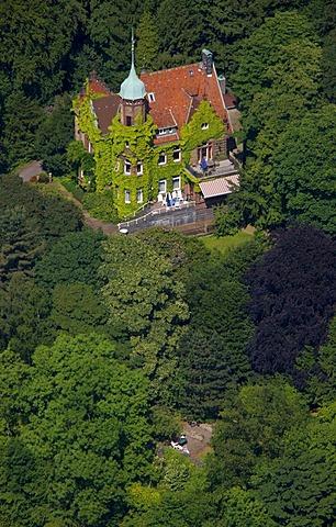 Aerial view, Wilhelminian style villa, Velbert, Ruhrgebiet region, North Rhine-Westphalia, Germany, Europe