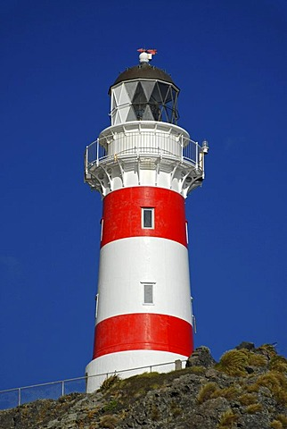 Cape Palliser Lighthouse at the Cook Strait at the southern tip of the North Island, New Zealand