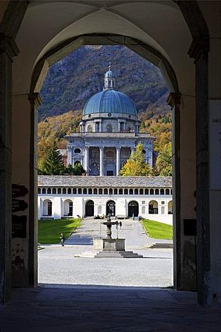 Cupola church Regina Montium, Sacro Monte di Oropa, Sacred Mount of Oropa, Marian pilgrimage site, province of Biella, Piedmont, Italy, Europe