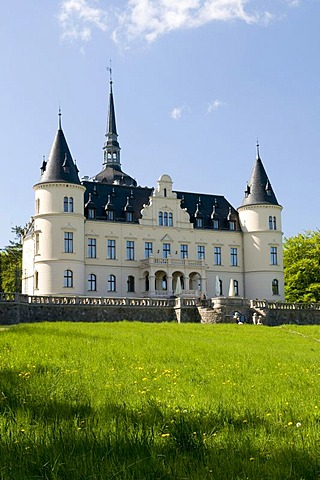 Neo-Renaissance chateau in Ralswiek, Isle of Ruegen, Mecklenburg-Western Pomerania, Germany, Europe