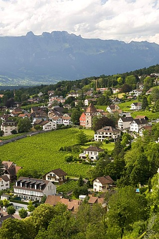 Overlooking Vaduz, Principality of Liechtenstein, Europe