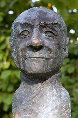 Bust of P. Friedrich von Luedinghausen-Wolff S.J., 1643-1708, founder of the University of Wroclaw, Luedinghausen, Muensterland region, North Rhine-Westphalia, Germany, Europe