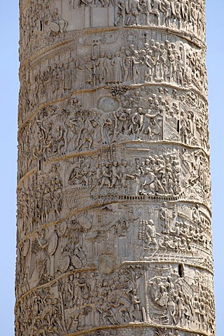 Relief band with depictions of military operations on Trajan's Column, Rome, Italy, Europe