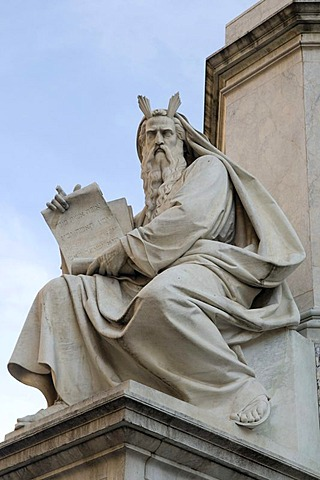 Moses statue on the Piazza di Spagna square, Rome, Italy, Europe