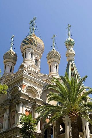 Russian church, San Remo, Riviera, Liguria, Italy, Europe