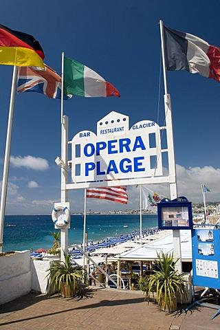 Opera Plage beach, Nice, Cote d'Azur, Provence, France, Europe