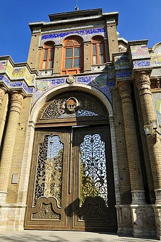 Bagh Melli Gate in Tehran, Iran, Asia