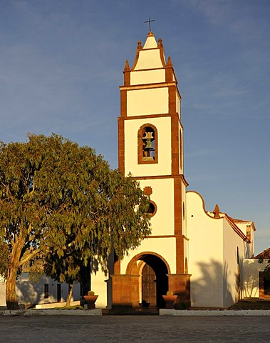 Parish church of Santo Domingo de Guzman in the evening light, Tetir, Fuerteventura, Canary Islands, Spain, Europe