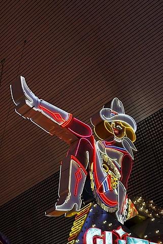 Glitter Gulch in Fremont Street in old Las Vegas, Nevada, USA
