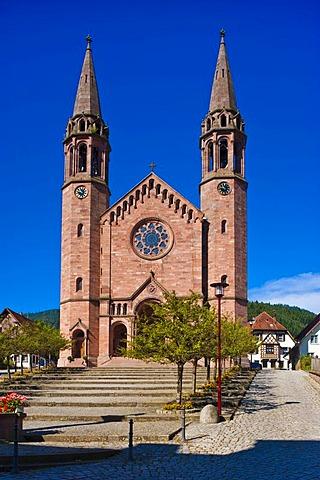 Church of Sankt Johannes Baptista, Forbach, Black Forest, Baden-Wuerttemberg, Germany, Europe