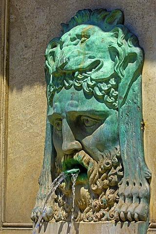 Fountain at Place de la Republique, Arles, Bouches du Rhone, Provence, France, Europe