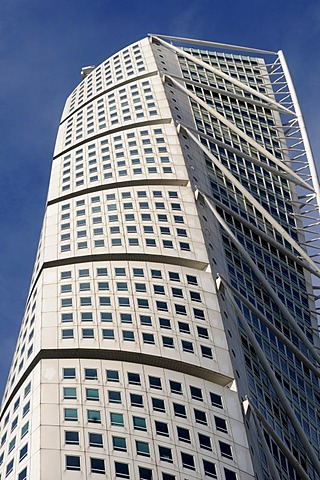 Turning Torso, the highest building in Malmoe, Sweden, Scandinavia, Europe