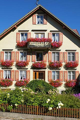 House in Scheidegg, Allgaeu, Bavaria, Germany, Europe