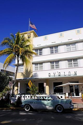 Avalon Hotel, Ocean Drive, Miami South Beach, Art Deco district, Florida, USA