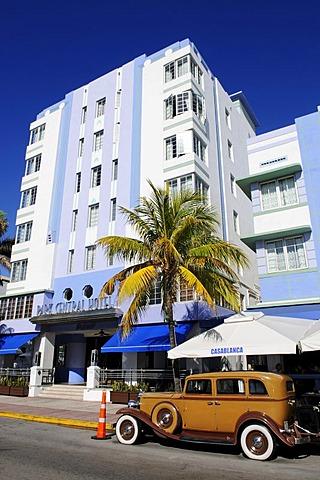 Park Central Hotel, Ocean Drive, Miami South Beach, Art Deco district, Florida, USA