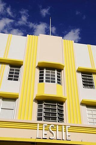 Leslie Hotel, Miami South Beach, Art Deco district, Florida, USA