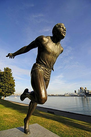 Harry Winston Jerome statue, Stanley Park, Vancouver, British Columbia, Canada