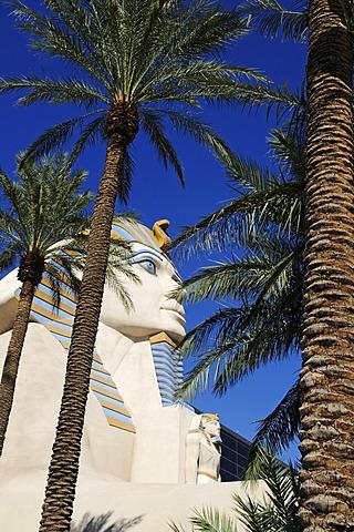 Egyptian sculpture, Luxor Hotel, Las Vegas, Nevada, USA