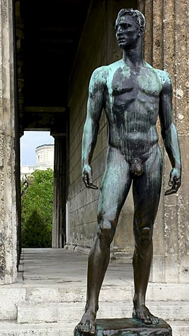 Bronze statue of Theseus, Volksgarten, Vienna, Austria, Europe