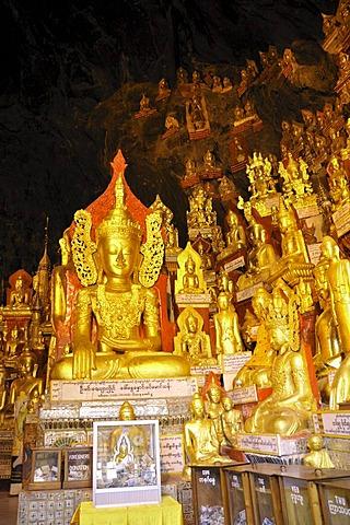 Buddha statues in the Pindaya Caves, Pindaya, Burma, Myanmar, Southeast Asia