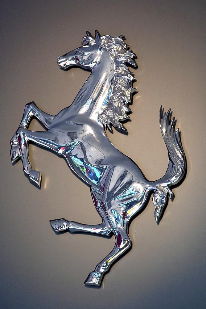 Logo of the Ferrari car brand