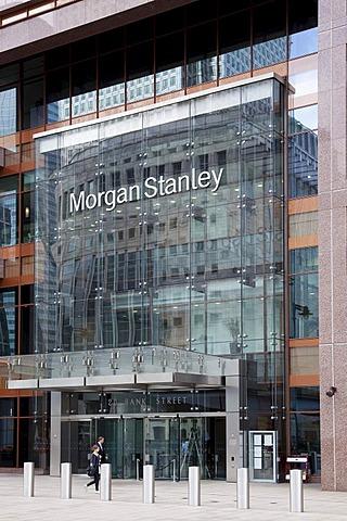 Morgan Stanley Bank in Canary Wharf, London, England, United Kingdom, Europe