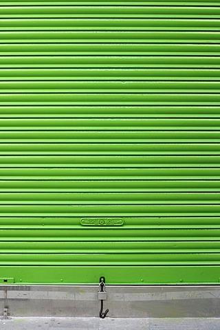 Green roller shutter