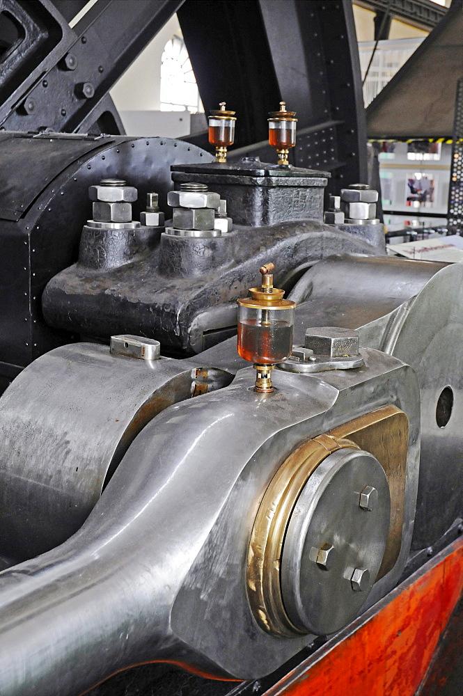 Oil can, steam-engine, turbine house, Zeche Hannover mine, LWL Industriemuseum industrial museum, Route der Industriekultur Route of Industrial Heritage, Bochum, Ruhr, North Rhine-Westphalia, Germany, Europe