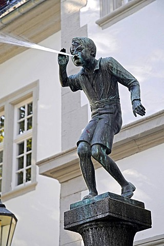 Schaengel, Schaengelbrunnen fountain, fountain sculpture, landmark, town hall, Koblenz, Rhineland-Palatinate, Germany, Europe