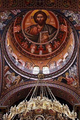 Large Minas Church, Episcopal Cathedral, Heraklion or Iraklion, Crete, Greece, Europe