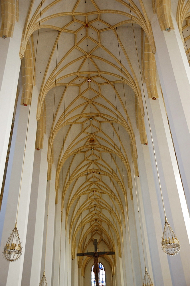 Church of Our Lady, Liebfrauendom, vaulted ceilings, Munich, Upper Bavaria, Bavaria, Germany, Europe