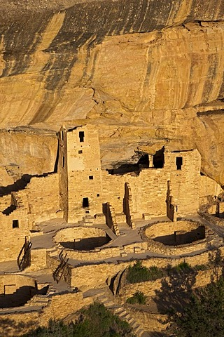 Cliff Palace, Anasazi Native American ruins, Mesa Verde National Park, Colorado, America, United States