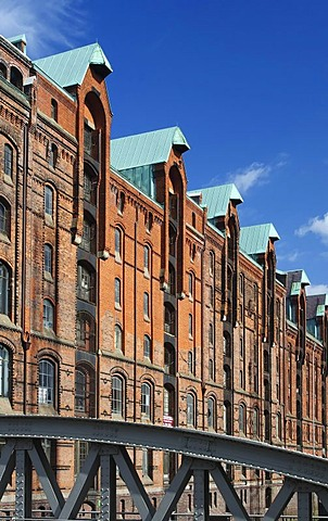 Historic warehouses in the Speicherstadt warehouse district of Hamburg, Hamburger Hafen port, Hamburg, Germany, Europe