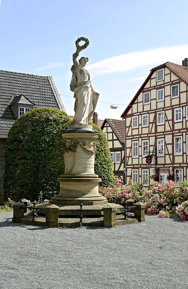 War memorial, Korbach, Hesse, Germany, Europe