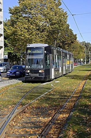 Rheinbahn Tram Type NF6, at terminus Derendorf Nord, Duesseldorf, North Rhine-Westphalia, Germany, Europe