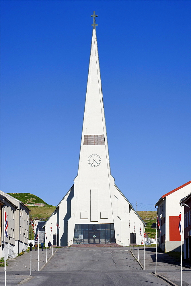 Protestant parish church, Vardo, Vardoe, Norway, Scandinavia, Europe