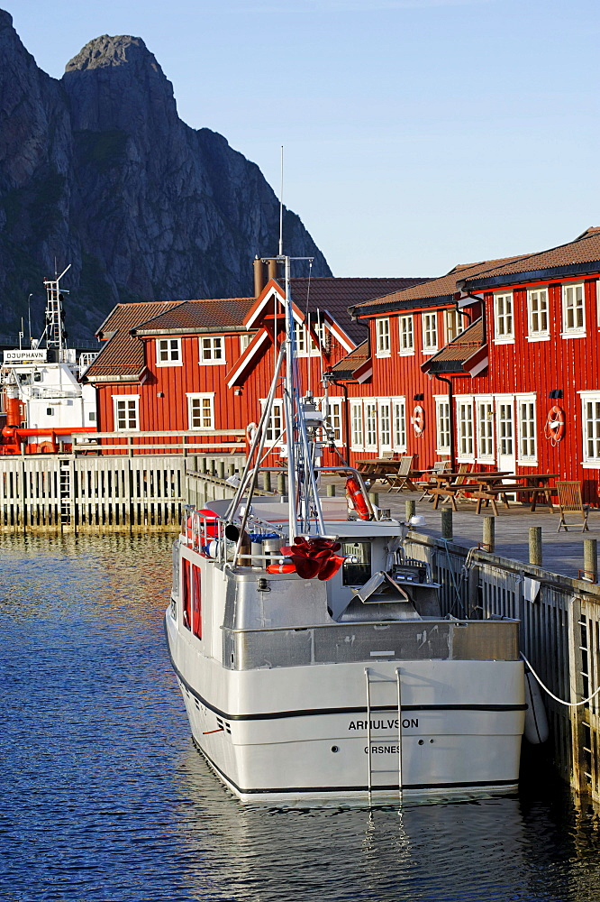 Houses at the harbour, Svolvaer, Norway, Scandinavia, Europe
