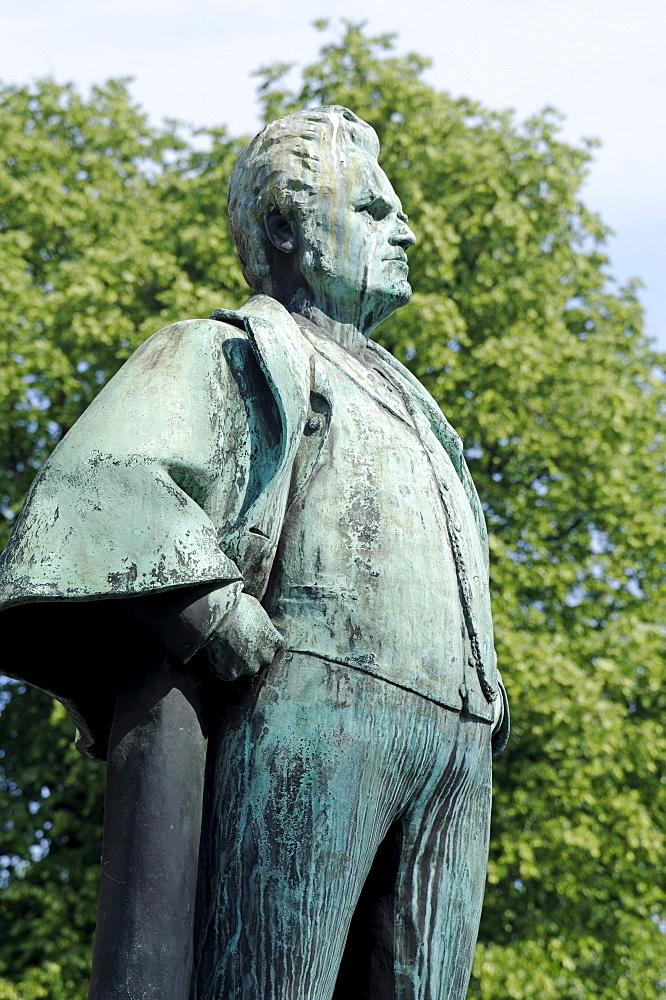 Bjoernstjerne Martinius Bjoernson, 1832-1910, poet and politican, sculpture at the National Theatre, Oslo, Norway, Scandinavia, Europe