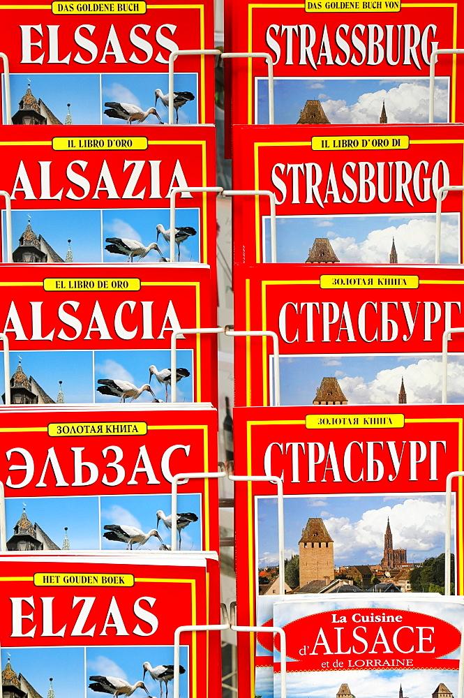 Alsace travel guides, different languages, Strasbourg, Alsace, France, Europe