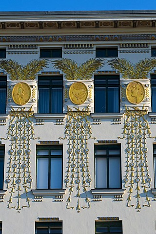 Art Nouveau building in the Wienzeile street, Vienna, Austria, Europe