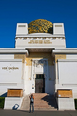 The exhibition hall of the Wiener Secession, Union of Austrian Artists building, Vienna, Austria, Europe
