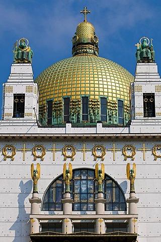 Art Nouveau church Am Steinhof by Otto Wagner, Baumgartner Hoehe, Vienna, Austria, Europe