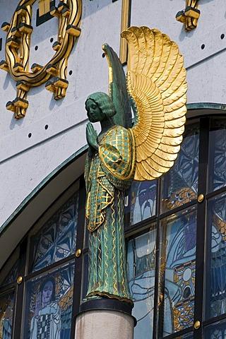 Angel, Art Nouveau church Am Steinhof by Otto Wagner, Baumgartner Hoehe, Vienna, Austria, Europe