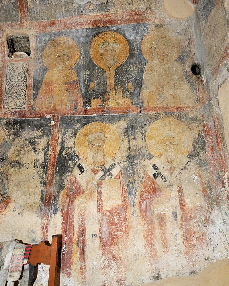 Frescoes in the church Agia Georgios Vardas, 1290, Rhodes, Greece, Europe