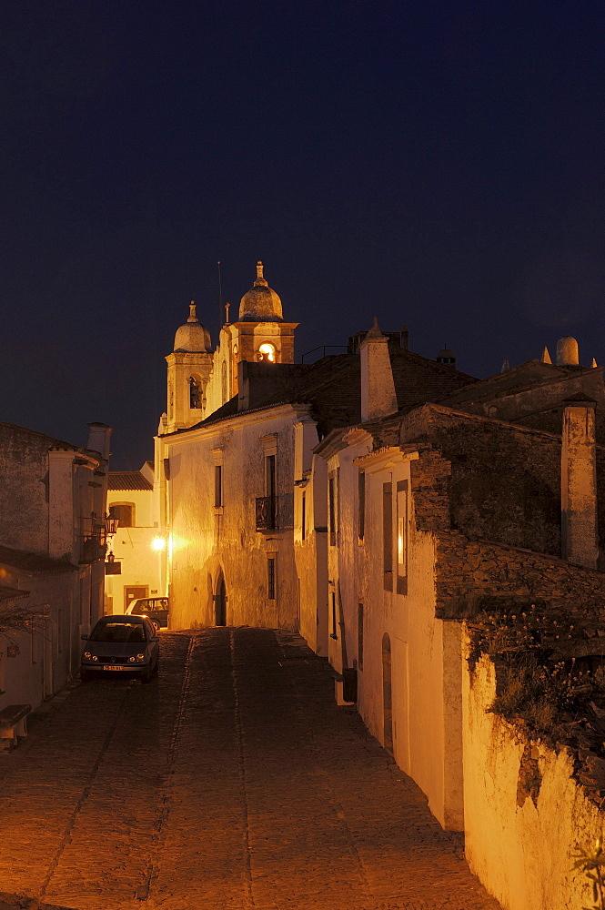 Monsaraz, fortified village, at dawn, Alentejo, Portugal, Europe