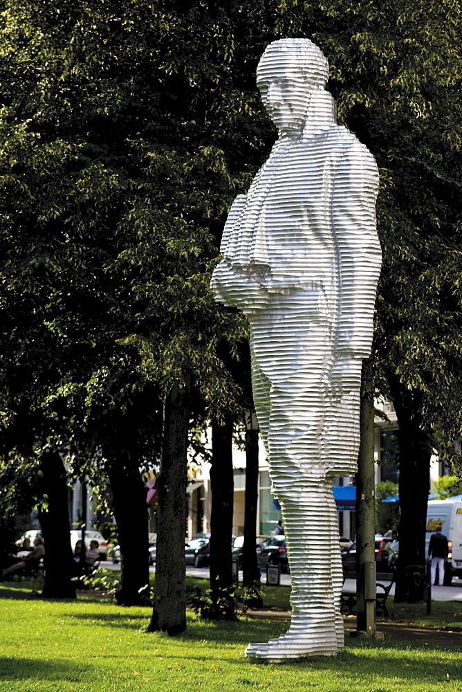 Statue of Count Montgelas, Alter Botanischer Garten old botanical garden in Munich, Bavaria, Germany, Europe