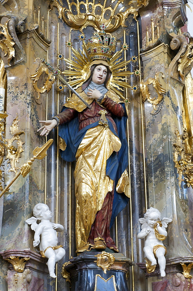 Pilgrimage Church of Maria Steinbach, Maria Steinbach, Allgaeu, Bavaria, Germany, Europe