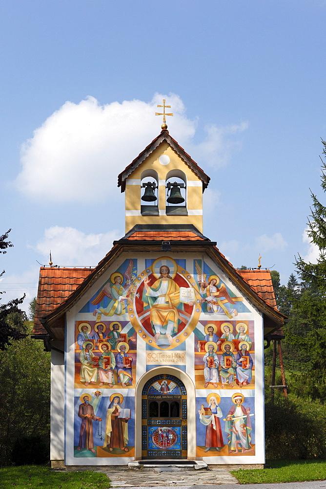 Village chapel in Tregist near Voitsberg, designed by Prof. Franz Weiss, Styria, Austria, Europe