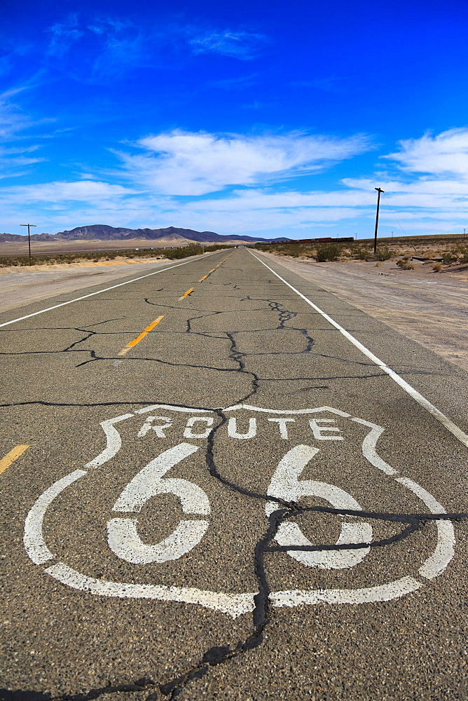 The historic Route 66, Ludlow, California, USA, North America