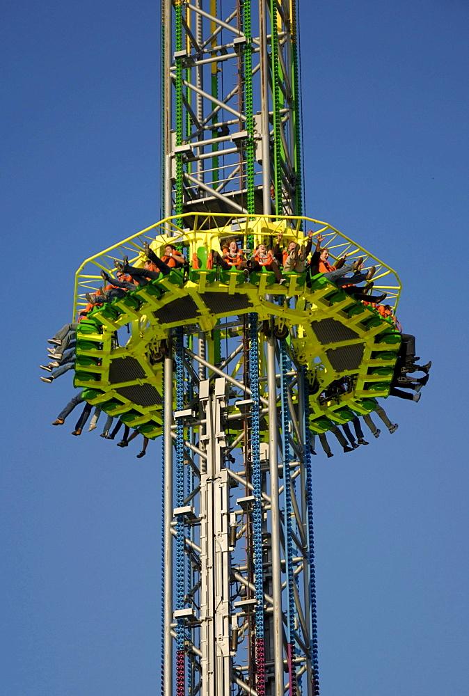 Power Tower amusement park ride at the Kiel Week 2008, Kiel, Schleswig-Holstein, Germany, Europe